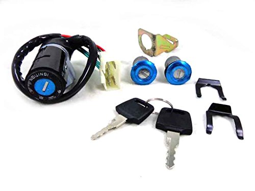 5 Wire Ignition Key Switch Set for Honda Elite DIO 50 SE50 SA50 SK50 CH125 CH150 GY6 50cc 125cc 150cc Chinese ATV Scooter Moped Pit Dirt Bike Roketa Jonway ()