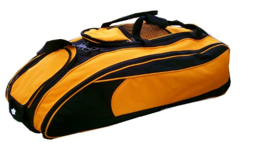 Black and Athletic Gold Regular Cobra Softball Baseball Bat Equipment Roller Bag by MAXOPS
