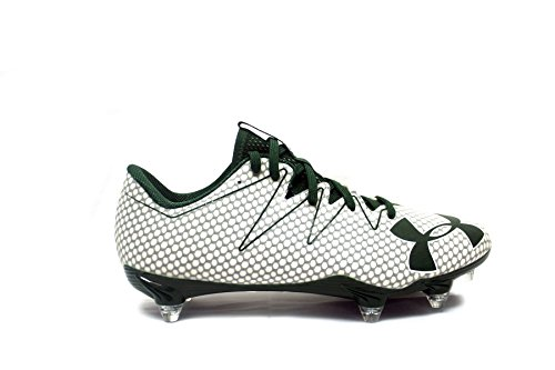 Armour Under Team Nitro Low Detachable Football Cleats (11.5, White/Green/White) (Cleats Blur Football Ua)
