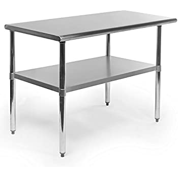 gridmann 48 inch x 24 inch stainless steel kitchen table. beautiful ideas. Home Design Ideas