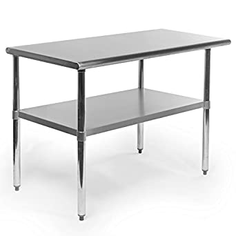 Gridmann 48 Inch X 24 Inch Stainless Steel Kitchen Table