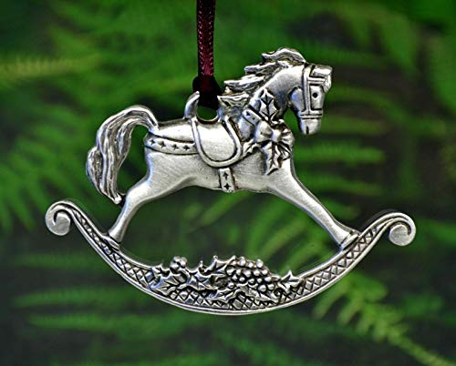 Rocking Design Decorative Horse - Rocking Horse Christmas Ornament | Traditional Christmas Designs in Fine Pewter