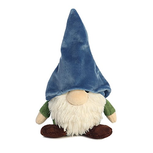 [Aurora World Pointy Hat Gnome Plush Toy (small, Blue/white/green/brown)] (Gnome Hats)
