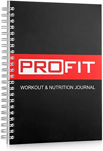 ProFit Fitness and Food Journal - Weight Loss Planner | Workout Log | Diet Notebook | Gym Exercise Diary - Easy-To-Use A5 Fit Book / 6x8 Inches / 140 Pages / Undated 1