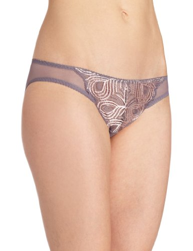 Cosabella Women's Peacock 2 Tone Low Rider Bikini Panty, Rock/Pink, Large ()