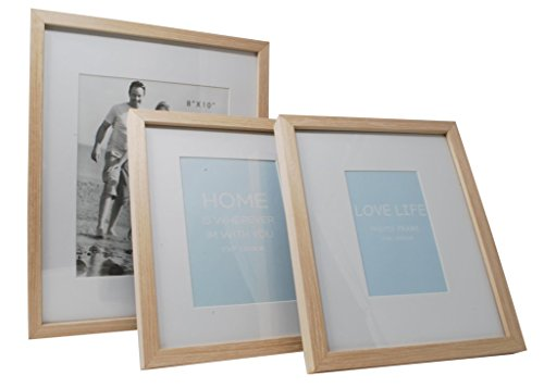 12x15 Beige Photo Picture Frame-Matted to Fit 8x10 inch Photo -Wall Mounting Hooks Included by Momentum Home (Image #3)