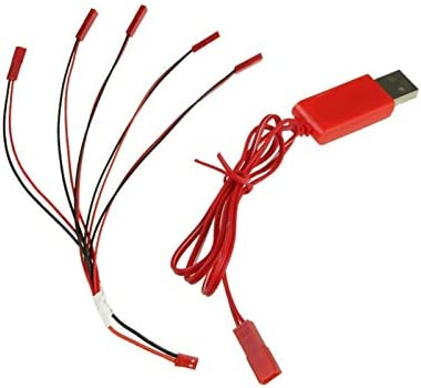 Color: Red USB Cable V959 V929 V222 UDI U818A U817A X1 Battery Yoton Accessories 1 to 5 Battery Charging Cable JST Plug