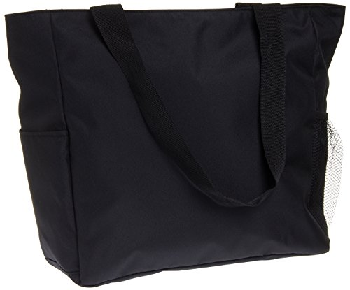 Print Shopper Beach Tote Bag (Solid Black)