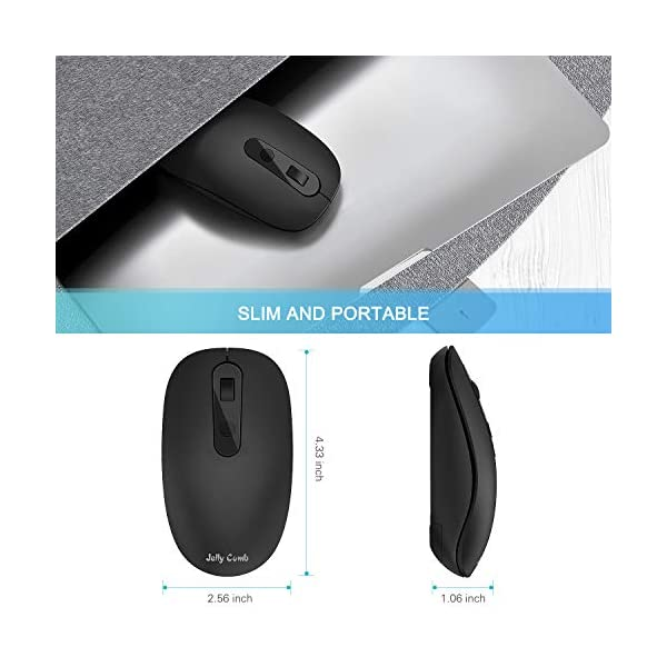 Type C Wireless Mouse, Jelly Comb 2.4G Wireless Mouse USB C Computer Cordless Mice with USB and Type C Receiver…