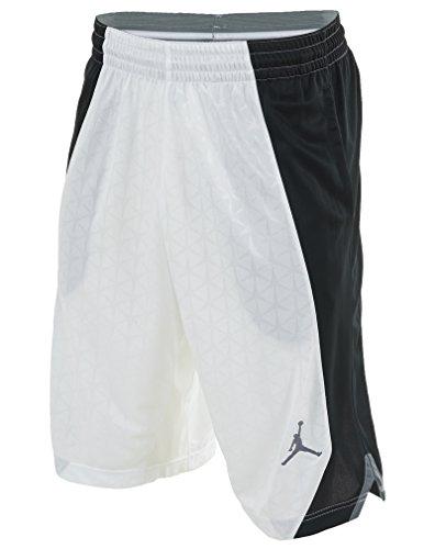 a7a59022f4b54c Nike Mens Air Jordan Flight Knit Basketball Shorts White Black Cool Grey  642240-100 Size X-Large - Buy Online in UAE.