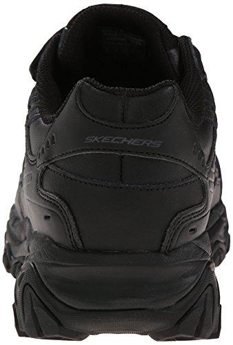 Skechers Sport Herren Afterburn Strike Memory Schaum Klett Sneaker, Schwarz