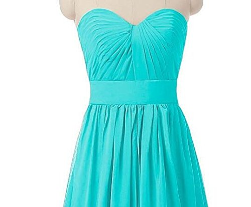 Dresses Off Prom Grey Shoulder Botong Bridesmaid Gown Sweetheart Aqua the Chiffon Long qH4wIt