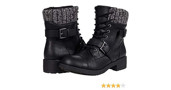 Rocket Dog Travis black ladies biker ankle boot
