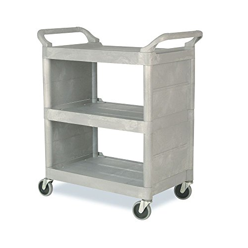 Enclosed Utility Cart - Utility Cart With Enclosed End Panels Platinum