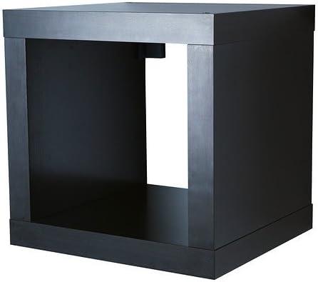 IKEA KALLAX estantería de pared negro y marrón; (42 x 42 cm)