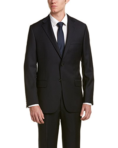 Hickey Freeman Mens 2Pc Milburn II Wool Suit, 44R, - Freeman Hickey Suits Mens