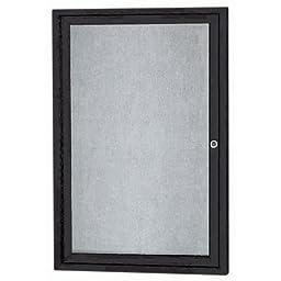 Aarco Products ODCC3624RBK 1-Door Outdoor Enclosed Bulletin Board - Black