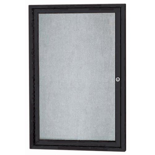 Aarco Products ODCC3624RBK 1-Door Outdoor Enclosed Bulletin Board - Black by Global Industrial