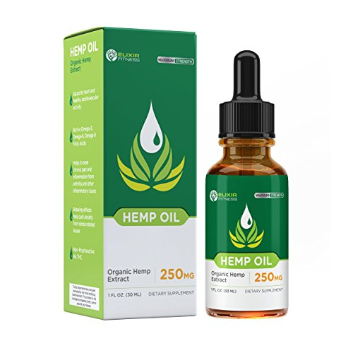 Hemp Oil Extract - All-Natural Premium Formula - 8.33MG Per Serving - Promotes Relaxation - Organic Anti-Anxiety - One Month Supply - Sans CBD - Elixir ()