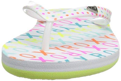 Roxy RG Pebbles V - Sandalias para niña Blanco / Azul marino (White / Aqua)