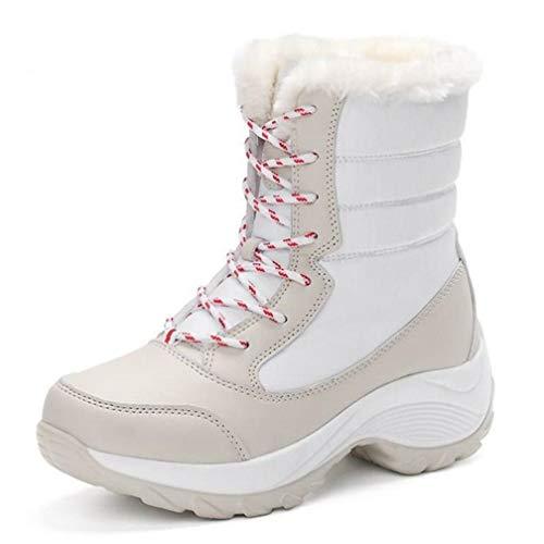 (T-JULY Women's Winter Snow Boots Winter Keep Warm Shoes Autumn Girls Mid-Calf Platform Boots Shoes Big Size)