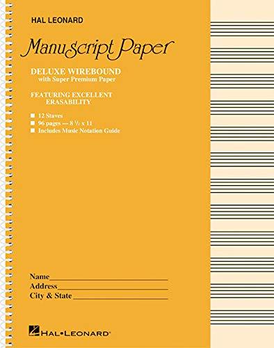 Deluxe Wirebound Super Premium Manuscript Paper (Gold Cover) (Spiral Bound Manuscript Notebook)
