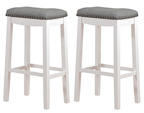 (Angel Line 43918-21 Cambridge Padded Saddle Stool with Cushion, 29