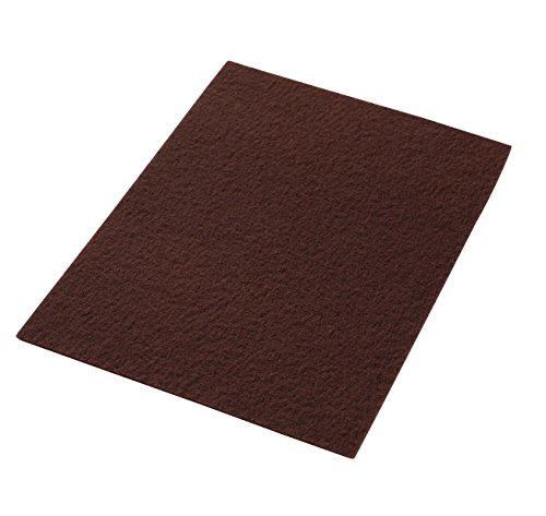 """Americo Manufacturing 42071420 Maroon EcoPrep Chemical Free Stripping/Deep Scrubbing Floor Pad (10 Pack), 14"""" x 20"""""""