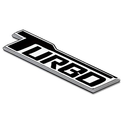 Amazon.com: Black TURBO Badge Emblem Car Boot Trunk Sticker For Chevrolet Cruze Silverado Volt MALIBU Camaro SPARK: Automotive