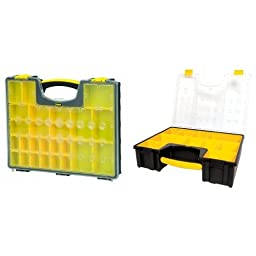 Stanley 014725 25-Removable Compartment Professional Organizer with 10 Removable Bin Compartment Deep Professional Organizer