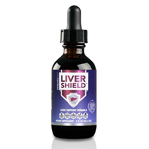 Liver Shield Detox Cleanse & Repair Formula (2 fl. oz) – Vegan, Non-GMO & Gluten Free Liquid Drops with Organic Milk Thistle, Dandelion, Turmeric & More (Organic Cleanse Liver)