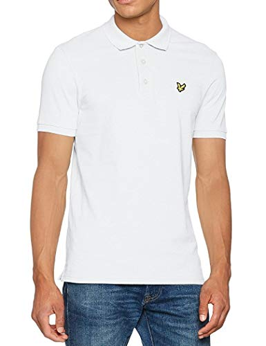 (Lyle & Scott Vintage SS Pique Polo Shirt XL white)