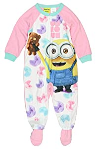 Despicable Me Minion Bob Toddler Little Girls Blanket Footed Sleeper Pajamas
