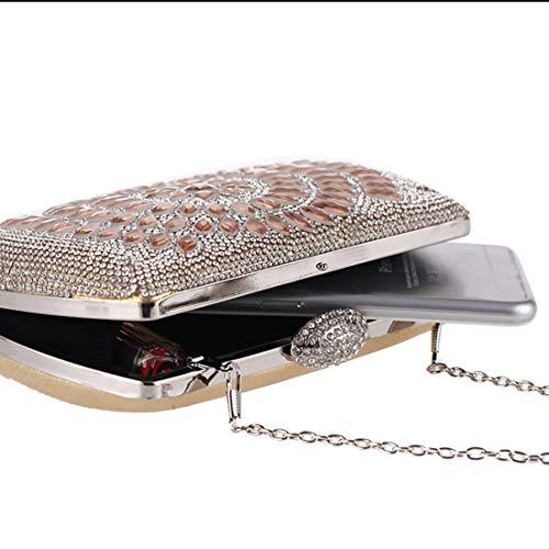 Rhinestone Clutch Exquisite Gold Banquet Fly Evening Evening Luxury Bag Bag American Bag European 5gzfxfRq