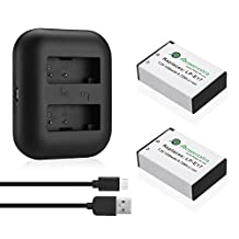 Powerextra 2 Pack Replacement Canon LP-E17 Battery High Capacity 1350mAh With Dual USB Charger for Canon EOS M3, EOS Rebel T6i, EOS Rebel T6s, EOS 750D, EOS 760D, EOS 8000D, Kiss X8i Digital SLR Camera