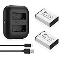 Powerextra 2 Pack Replacement Canon LP-E17 Battery and Dual USB Charger for Canon EOS Rebel T6i, Rebel T6s, Rebel T7i, 750D, 760D, 8000D, Kiss X8i, 800D, 77D, 200D, EOS SL2, EOS M3, EOS M6, EOS M5