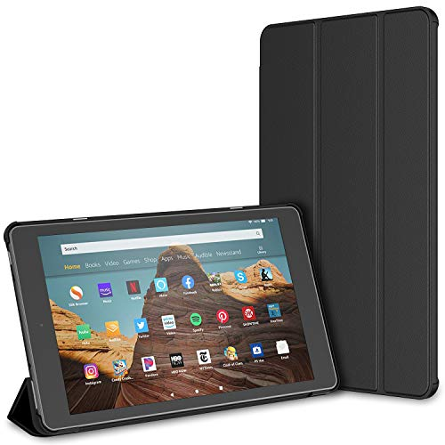 JETech Case for Amazon Fire HD 10 Tablet 10.1' (7th / 9th Generation, 2017 Release / 2019 Release) Smart Cover with Auto Sleep/Wake, Black