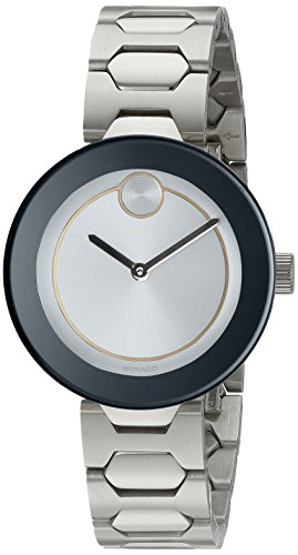 Movado Women's Swiss Quartz Stainless Steel Watch, Color: Silver-Toned (Model: 3600381)
