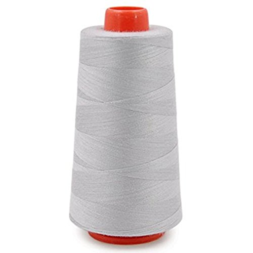 SODIAL(R) Cones Polyester Bobbin Thread Filament for Embroidery Machine Household Sweing Handmade Tools Accessories Gray
