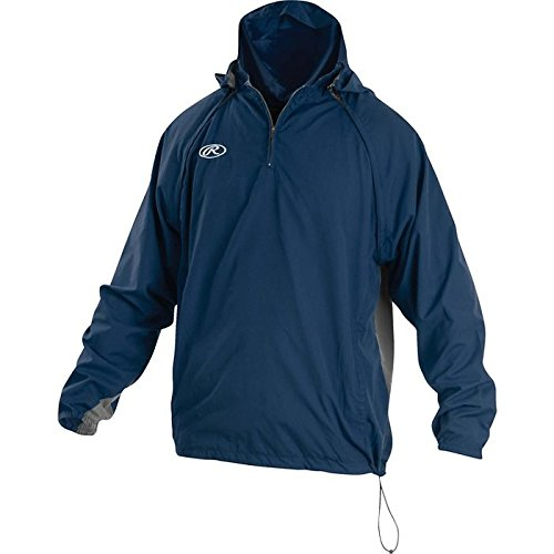 Rawlings Sporting Goods Mens Adult Jacket W Removable Sleeves & Hood, Navy, x Large by Rawlings