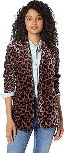 J Blazer Crew - J.Crew Women's Rimbaud Blazer Leopard Drapey Velvet Rose Leopard 4