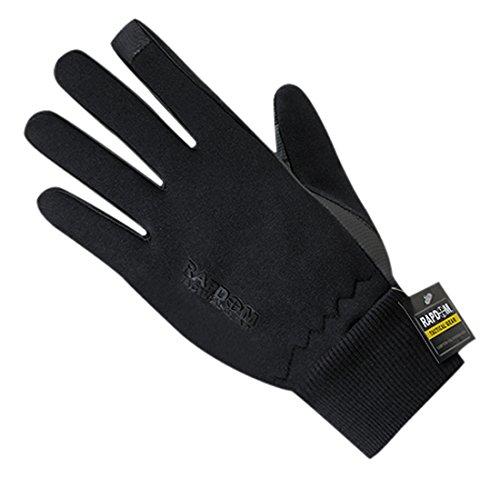 Rapdom Tactical Neoprene with Cuff Gloves, Black, Medium by RAPDOM