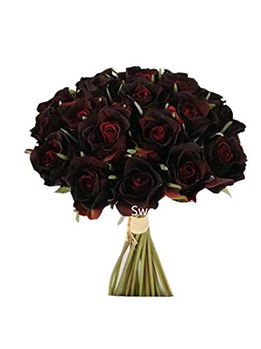Amazon Com Sweet Home Deco 6 W Supper Real Lovely Rose Artificial