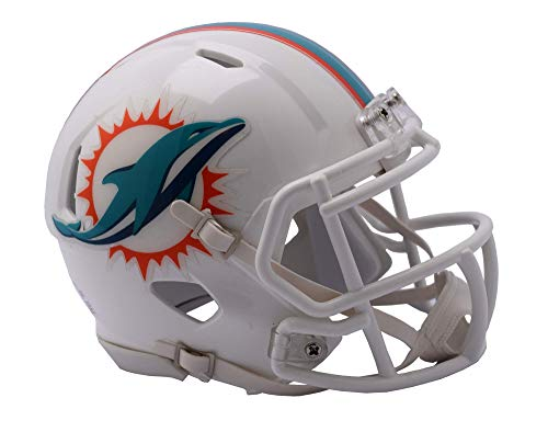 - Riddell NFL Miami Dolphins Unisex Replica Mini Speed Stylemiami Dolphins Helmet Replica Mini Speed Style 2018, Team Colors, One Size