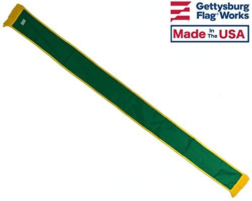 (Gettysburg Flag Works 6' St. Patrick's Day Irish Green Nylon Parade Sash, Nylon, Made in)