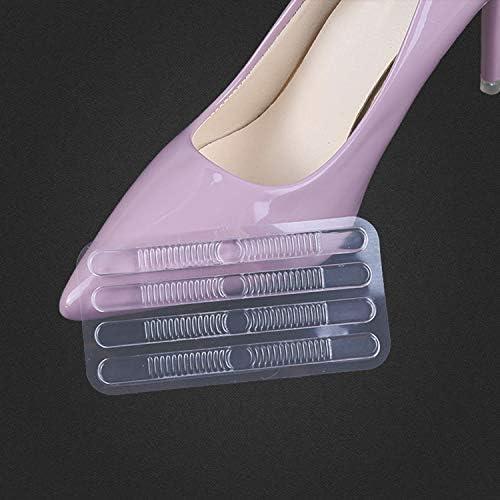 ToMoYi 4 Paare Antislip Gel Transparent Silikon Fersenkissen Fersenhalter Fersenpolster Pads Ferse Schuheinlagen Fußballen Pads Selbstklebend für HighHeels Pads Komfort, Fußpflege, T Form
