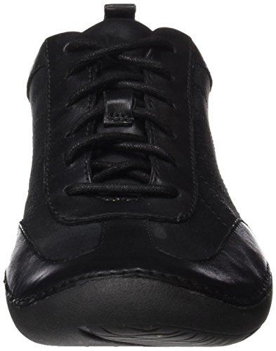 Sneakers Noir Femme Leather Basses Clarks Garden Autumn Black EPTwTSq