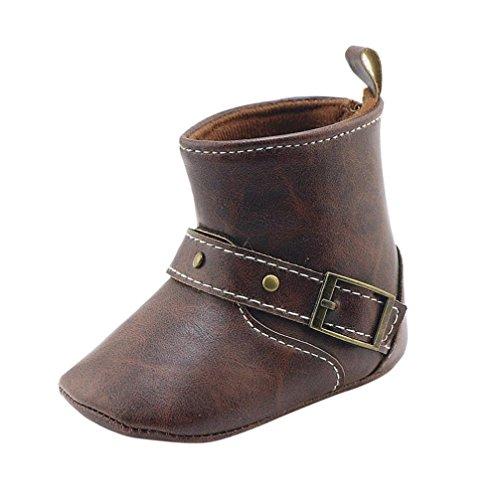 Oksale Baby Girl Boy Winter Crib Boots Soft Sole Boots Prewalker Warm Shoes (6~12 Month, Coffee)