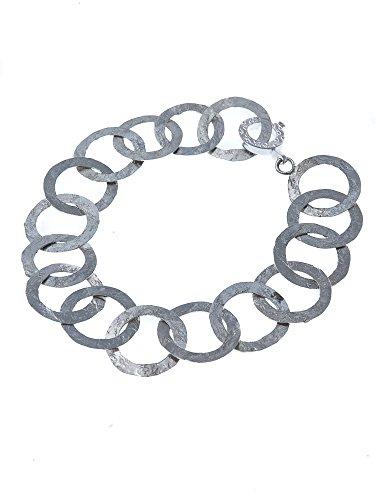 NerdiGrand bracelet martelé en argent