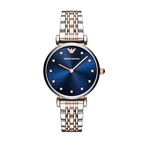 's 'Dress' Quartz Stainless Steel Casual Watch, Color Silver-Toned (Model: AR11092) (Emporio Armani Rose)